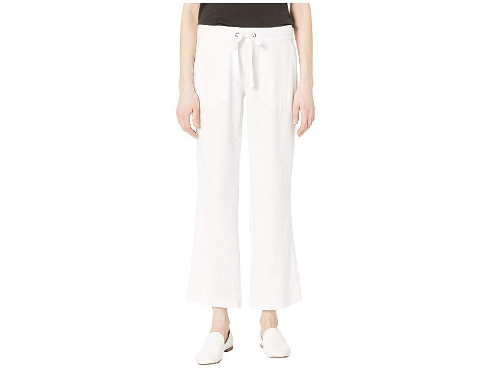 Per Se 31 Linen Drawstring Pants (White) Women's Casual Pants