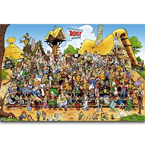 VGFTP Rompecabezas de cómic clásico, Imagen de Rompecabezas de Madera para Adultos de Asterix Adventures, Juguetes Casuales para Adultos y Adolescentes Muy desafiantes 1000 Piezas