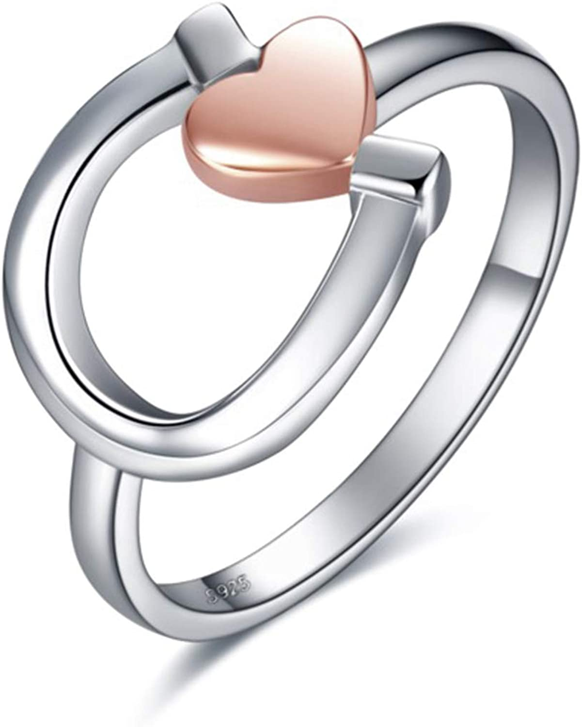 Horse Oklahoma City Mall Gifts Jewelry for Women low-pricing Silver Horseshoe Ri Sterling Lucky