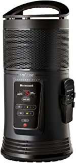Honeywell Ceramic Surround Heat Whole Room Heater w/ Remote Control - Black, HZ-445R