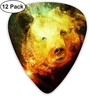 MEILVWEN Smiley Face of Starry Bear Guitar Picks Gift Set(16 Pack Includes Thin Medium Heavy) for Electric Classic Bass and Acoustic Guitars