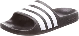 adidas Australia Boys' Adilette Aqua Slides, Footwear White/Silver Metallic