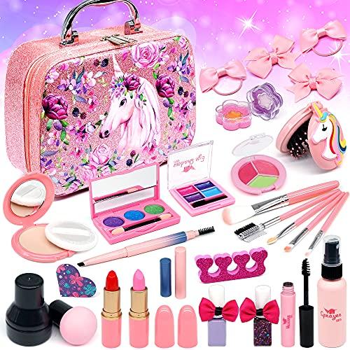 Senrokes Washable Makeup Girls Toy - Kids Makeup Kit for Girls, Non...