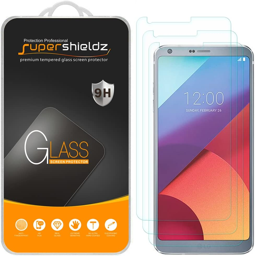 (3 Pack) Supershieldz Designed for LG G6 Tempered Glass Screen Protector Anti Scratch, Bubble Free