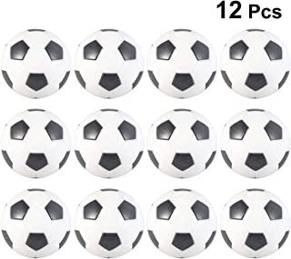 LIOOBO 12PCS Table Soccer Foosballs Replacement Mini Black White Table Foosball Balls Toy Game Accessory for Kids Adult (32mm)