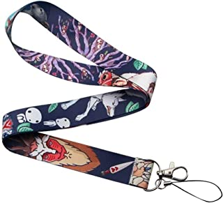 RedDoor_Hill Princess Mononoke Lanyards for Keychain ID Card Pass Gym Mobile Phone USB Badge Holder Hang Rope Lariat Lanyard