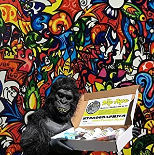 Hydrographic Film Dip Ape Color Fusion Sticker Bomb Hydrographics Water Transfer Hydro Dip Dipping Kit