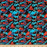 Marvel 0661221 Spider-Man Thwip Blue Fabric Stoff, Textil,