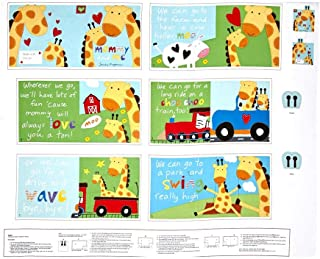 StudioE Fabrics Multi Huggable & Loveable Mommy and Me Soft Book 36in Panel Fabric