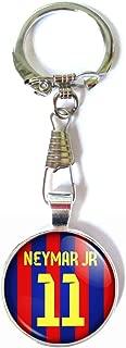 Neymar Jr. Fc Barcelona Soccer Jersey Glass Keychain