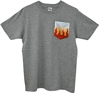鬼滅の刃風Tシャツ 煉獄 杏寿郎モデル カジュアル ワンポイント 半袖シャツ 半袖Tシャツ Mサイズ