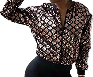 b9fb0bf0eaa Speedle Women Party Clubwear Sexy Off The Shoulder Sequin Jacket Coat  Outwear