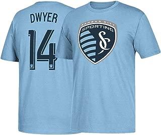 adidas Dom Dwyer Sporting Kansas City MLS Men's Player N&N Jersey Smoke Blue Performance T-Shirt