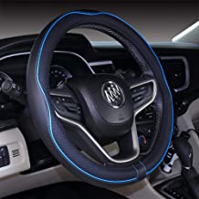 United Pacific 70135 18 Perforated Leather Steering Wheel Cover-Blue