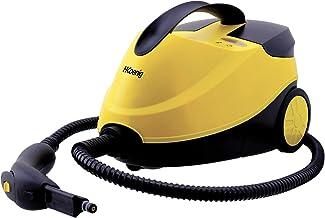 H.Koenig Limpiador a Vapor, Vaporeta, 2000 W, 4 Bares, Autonomía de 45 min, Capacidad de Agua de 1,5 L, Compartimento Interno, Amarillo NV6200, plástico
