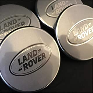 Since 4 x Range Rover 63 mm Tapa del Cubo Lote de 4 Ruedas de Acabado Rim Chrome Cover Black