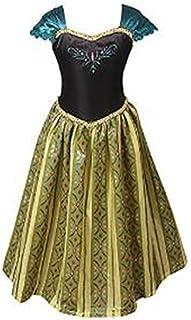 ELSA & ANNA® Princesa Disfraz Traje Parte Las Niñas Vestido (Girls Princess Fancy Dress) ES-FBA-ANNA1 (3-4 Años, ES-ANNA1)
