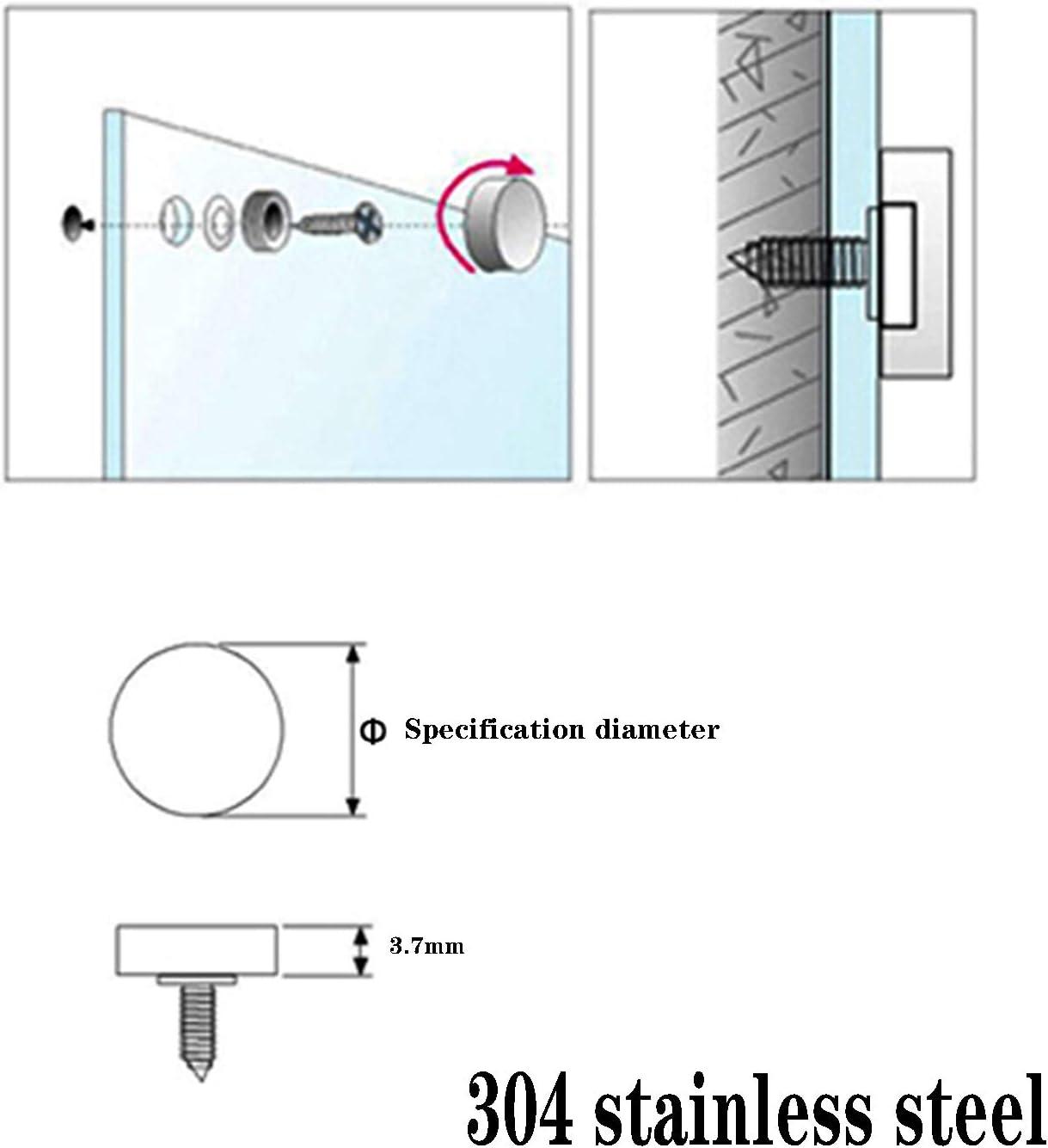 YouU 28 pi/èces Miroir Couvercle de Vis en Acier Inoxydable 12mm//14mm//16mm//18mm acier inoxydable Miroir d/écoratif Vis Couvercle Cap Clous 12mm