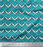 Soimoi 44 Zoll breit Designer Ikat Printed by The