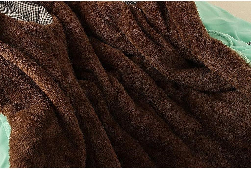 OIKAY Damen Dicke Lange Jacke Kunstpelz Futter Mantel Damen Winter warm mit Kapuze Parka Damen Parka Jacke Winterjacke Fellkapuze Wc Grün