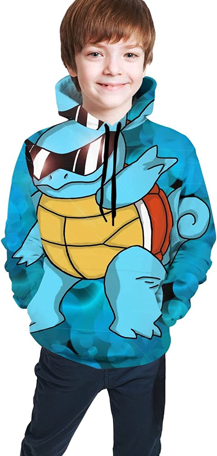 Anime Squirtle Youth Pullover 3d Cartoon Digital Printing Sweatshirt Sweater For Boys And Girls Sweater