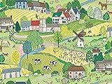 Makower Stoff mit Bauernhof-Tieren – (MAK1219 Village