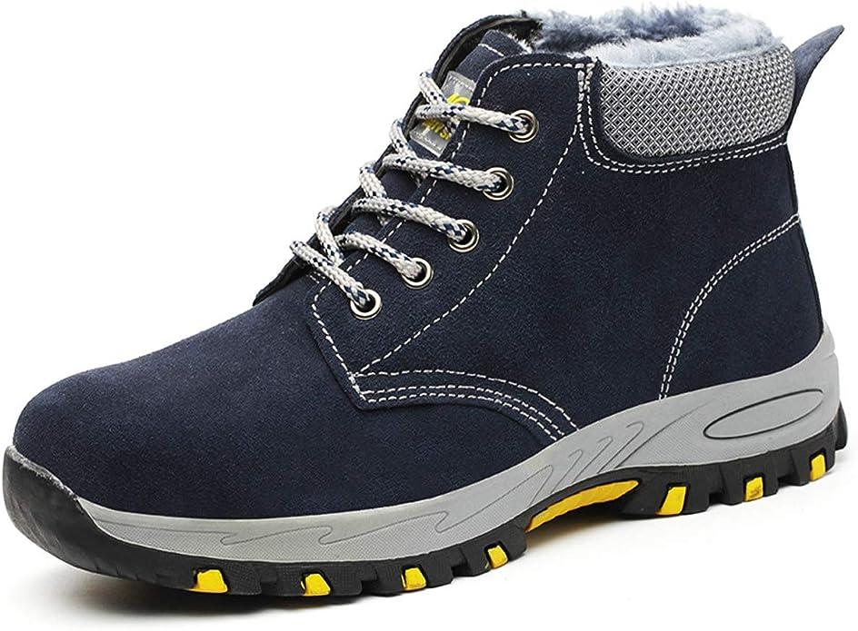 DoGeek Zapato Seguridad con Punta de Acero Zapatos Trabajo Antideslizante para Trabajo y Senderismo