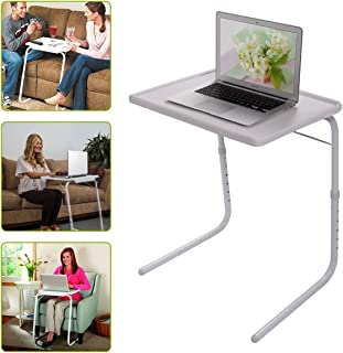 Zipperl Sofa Side Table Adjustable TV Snack Table Bed Table Folding Laptop Table Breakfast Tray Desk