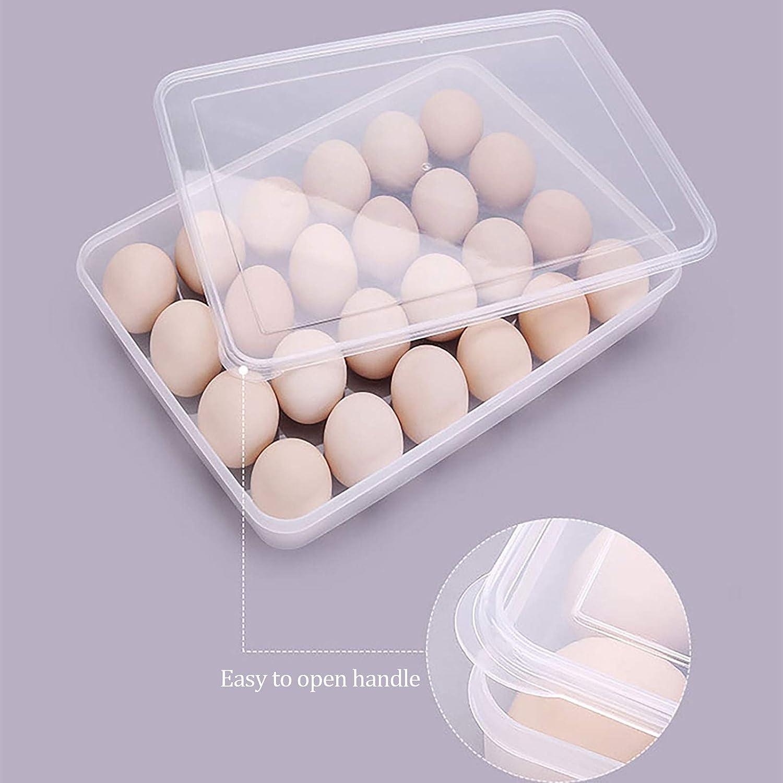 Stapelbar Eier Halter Tragbare Aufbewahrungsbox Eierhalter aus PP Kunststoff Multifunktionsbox Eiereinsatz Transportbox 24//34 Gitter Eierbeh/älter mit Deckel 24 Hunpta @ Eierbox f/ür K/ühlschrank
