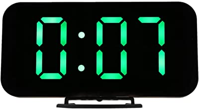 SODIAL Alarma Led Digital Reloj De Mesa Brillo Ajustable para Casa Oficina Hotel Reloj Digital Moderno
