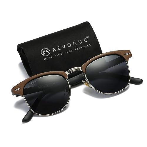 0eae7e6de7 AEVOGUE Polarized Sunglasses Semi-Rimless Frame Brand Designer Classic  AE0369