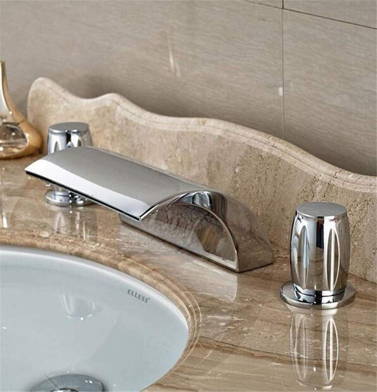 360° redating Faucet Retro Faucetbathtub Mixer Faucet Set Deck Mount Bathroom Tub Basin Sink Faucet Chrome Finish