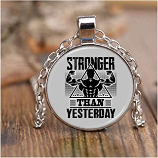 stronger than yesterday necklace