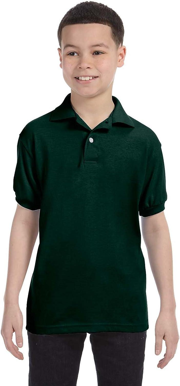 Hanes Boys' Cotton-Blend Jersey Polo