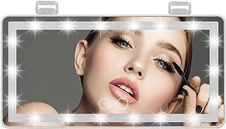 Auto Zonneklep Spiegel Make-up Spiegel Met 60 Led-verlichting, 3 Kleuren Verlichtingsmodus Achter Zonneklep Spiegel Voor B...