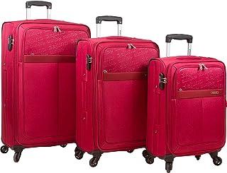 Dejuno Tuscany 3-Piece Lightweight Spinner Luggage Set-Green