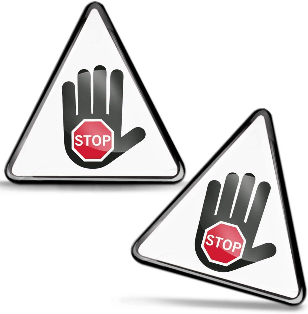 SkinoEu® 2 x 3D Gel Pegatinas Advertencia Seguridad Biológico Biohazard Toxico Precaución Detener Firmar Peligro Adhesiva Señal Riesgo Eléctrico Sécurité Radiactivos Símbolo Seguridad KS 126