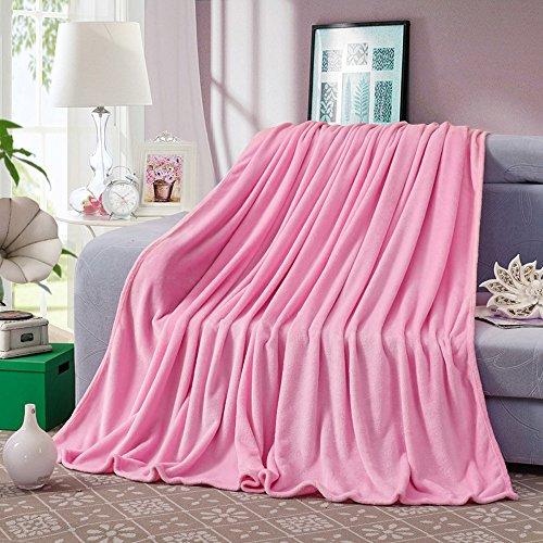 ShineMoon - Parure de lit en flanelle et polaire grande taille/Queen Size, collection toutes saisons, couleur solide thermique - couvertures pour canapé, housse de chaise de jardin