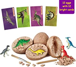 Onnetila Dinosaur Toys, 12 Dino Eggs Dig Kit - Break Open 12 Unique Dinosaur Eggs and Discover 12 Cute Dinosaurs - Easter Archaeology Science STEM Kids Toys Gifts for Boys and Girls 3 4 5 6 Years Old
