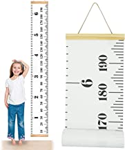 ONYADD Baby Growth Chart Handing Ruler Wall Decor for Children Height Record Talltape for Kids Nursery Room Canvas Removab...