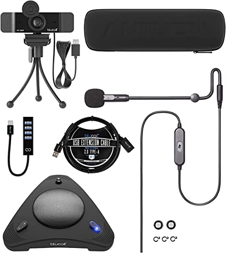 discount Antlion Audio ModMic USB Attachable Noise-Cancelling Microphone with Mute Switch Bundle with Blucoil 1080p USB Webcam, popular USB Conference Speakerphone, USB-A Mini Hub, wholesale and 3' USB Extension Cable online sale