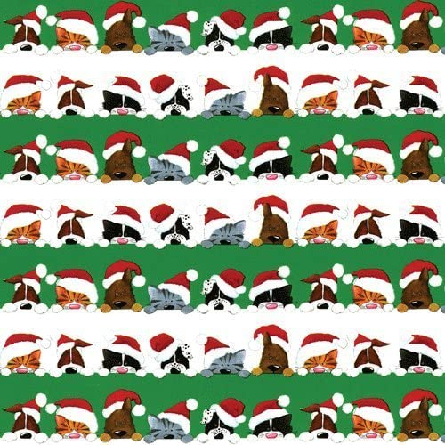 Christmas Wrapping Paper 2 Rolls Max 76% OFF Gift Cats 8 Dogs Two Wrap Ft Max 47% OFF
