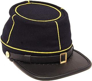 Civil War American Union State Militia Navy Blue with Yellow Braid Cavalry kepi