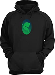 Legend of Zelda Link Profile Shadow_KK016206 Hoodie Capucha Suéter Sweatshirt Divertido Funny Unisex Cotton - Black