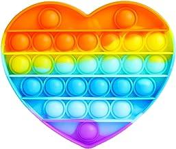 AURSTORE Jouets Anti-Stress - Fidget Toy- Pop Bubble - Jouets Sensoriels à Presser en Silicone pour la Concentration et Le Calme it (Coeur)