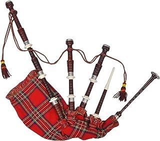 4f09cb87d2 Roderick Irving en Gaita Escocesa tartán Rojo Madera de Sheesham con  Acabado de Madera de Rosa