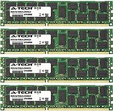128GB KIT (4 x 32GB) for Dell PowerEdge Series M420 M520 M620 R620 R820 R910 T320 T420 T620. DIMM DDR3 ECC Registered PC3-10600 1333MHz Dual Rank RAM Memory. Genuine A-Tech Brand.