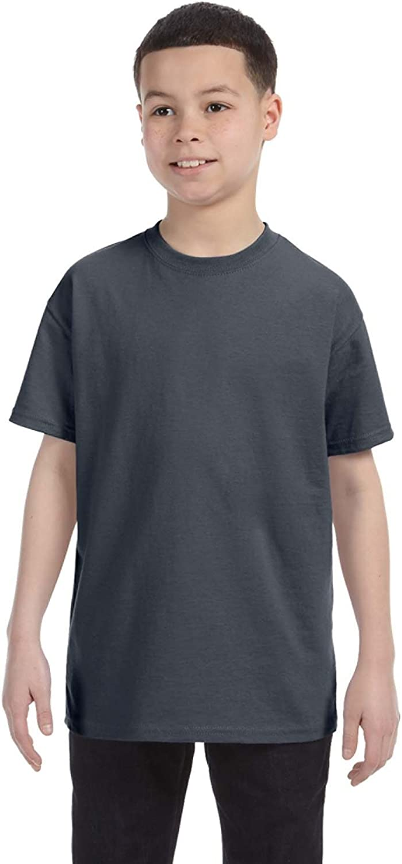 Gildan Youth 53 oz T-Shirt - DARK HEATHER - M - (Style # G500B - Original Label)