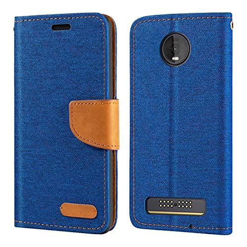 Capa para Motorola Moto Z4 Play, capa carteira de couro Oxford com capa traseira magnética de TPU macio para Motorola Moto Z4 Play