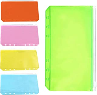 15Pcs Budget Binder, Cash Envelopes for Budgeting, A6 Binder Pocket, Budget Binder with Zipper Envelopes, Waterproof PVC B...